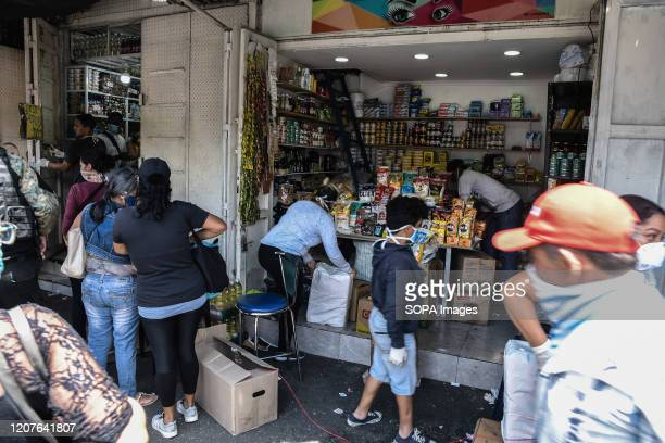 PETARE CARACAS MIRANDA VENEZUELA Local store selling goods during the quarantine After 3 days of quarantine decreed by the government of President...