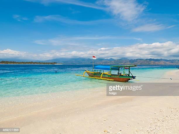 Local style outrigger boat, Gili Trawangan, Indonesia
