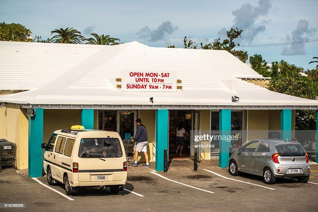 Local Supermarket on Bermuda : Stock Photo