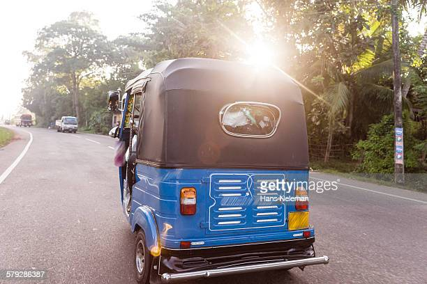 local taxi tuk tuk, sri lanka - auto rickshaw stock pictures, royalty-free photos & images