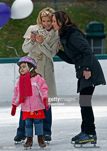 Local television personalities took part in a skating event held at the Boston Common Frog Pond in conjunction with Disney On Ice to benefit the US...