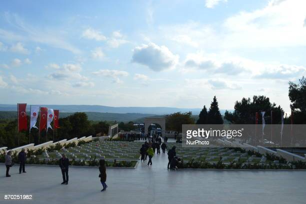 Local tourists visit the 57th Infantry Regiment Martyrdom of Turkey on the Gallipoli peninsula in Canakkale Turkey on November 4 2017 ''Turkey is...