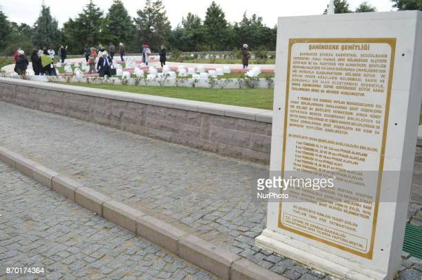 Local tourists visit the Sahindere martyrdom on the Gallipoli peninsula in Canakkale Turkey on November 4 2017 ''Turkey is currently ranked sixth in...