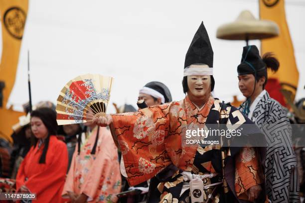 A local townsfolk performs during the Okehazama Historical Battlefield Festival in Aichi toyoake In 1560 Oda Nobunaga and Imagawa Yoshimoto fought...
