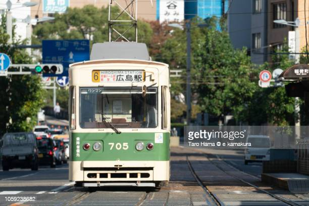 Local train in Hiroshima city in Japan