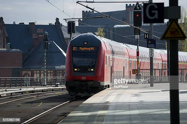 A local train is passing during the strike the union GDL on in Berlin Germany in the Central Station a The German train drivers union on strike since...