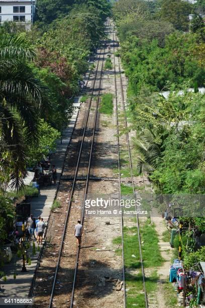 Local train railroad in Bangkok