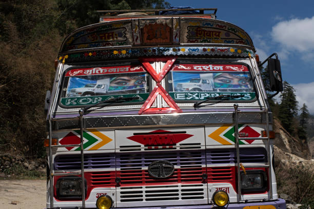 Local truck, Lete, Nepal