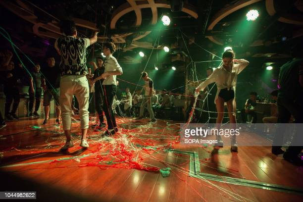 Local Uyghur teenagers seen dancing at a nightclub in Hotan in southwestern Xinjiang Uyghur Autonomous Region in China Hotan is located in the south...