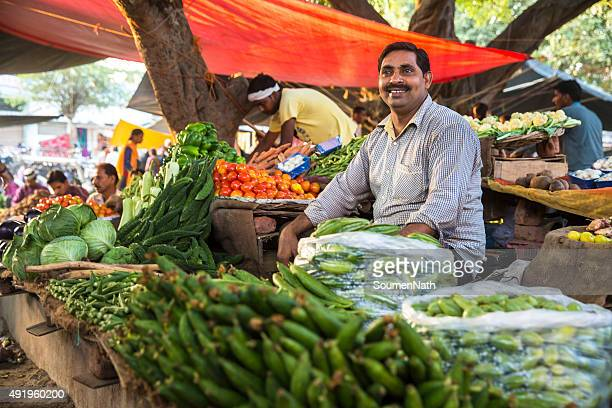 local vegetable market in india - vendor stock pictures, royalty-free photos & images