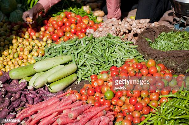 Local vegetables on a market in Jaisalmer - India