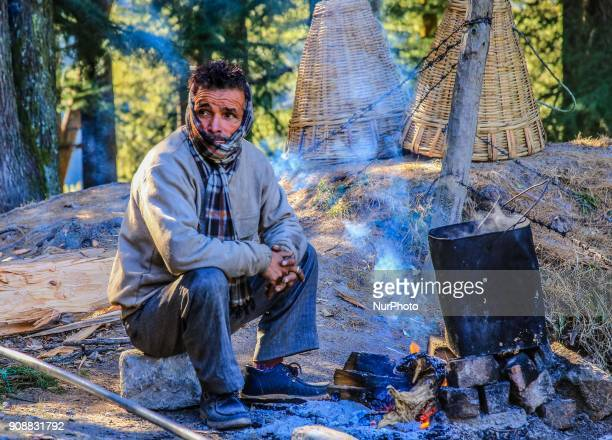 Local vendor at Dalhousie town of Chamba District Himachal Pradesh India 22 Jan2018The Dalhousie is a hill station in Himachal Pradesh established in...