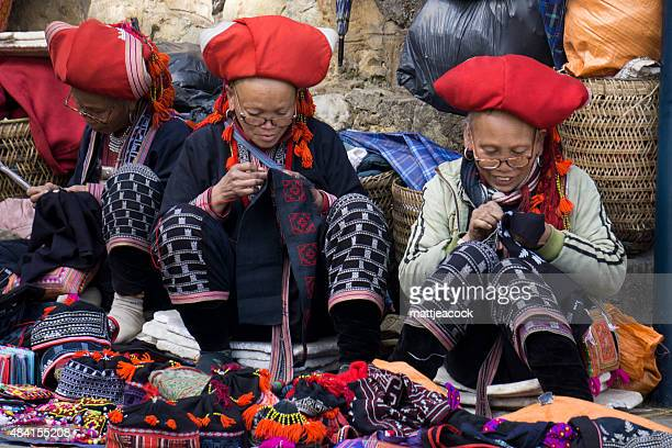 local vietnamese hmong tribe women - sapa stock pictures, royalty-free photos & images