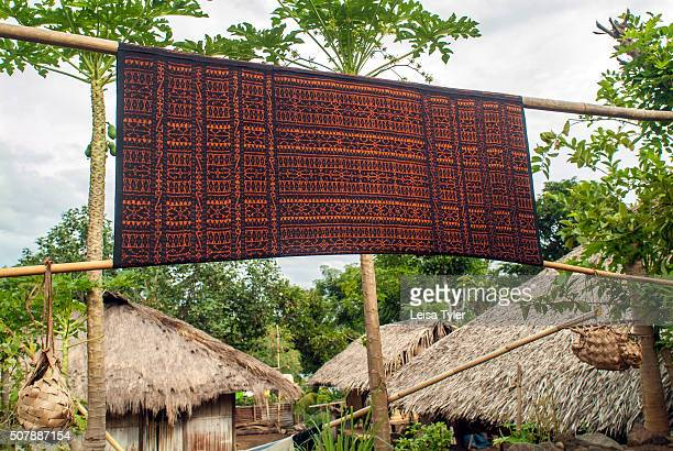 Locally made ikat in a village of the Ngada people on Flores, indonesia.