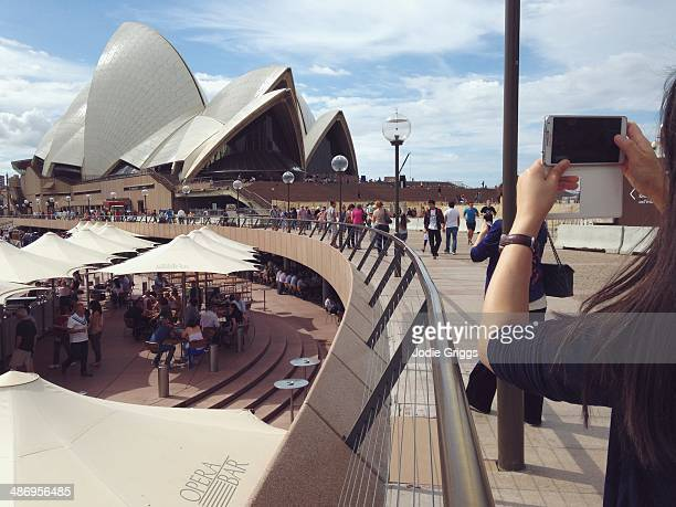 Locals and tourists enjoying the Sydney Opera House precinct