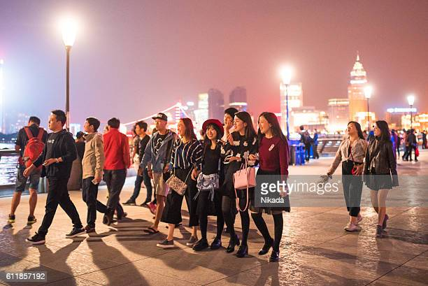 Locals and Tourists in Shanghai, China