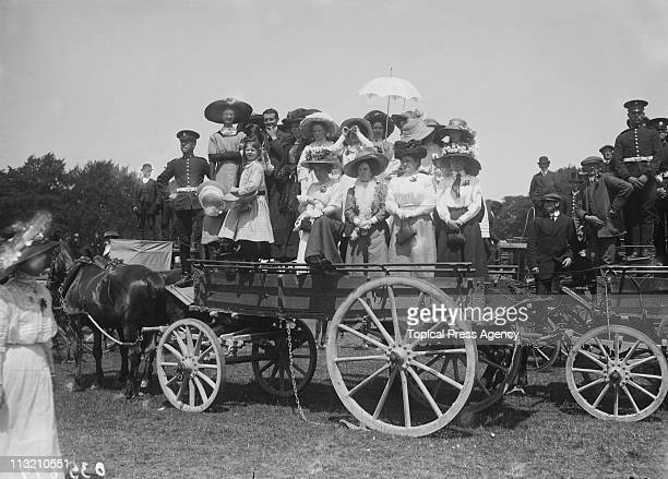 Locals attend a review in Phoenix Park Dublin during a visit to Ireland by King George V and Queen Mary July 1911