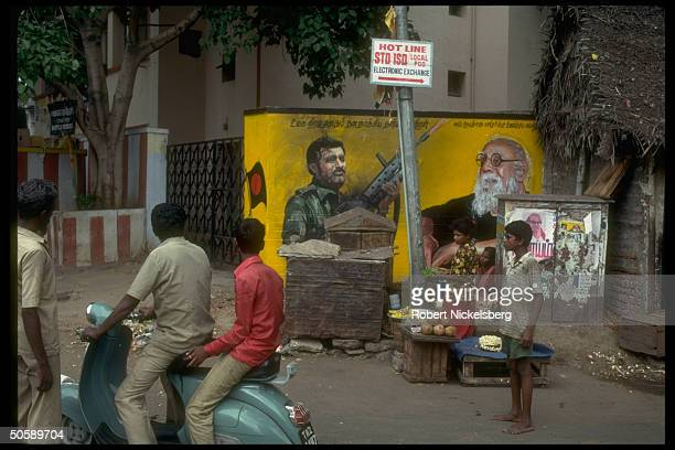 Locals by billbd depicting Prabakaran AK 47armed Tamil Tiger rebel ldr