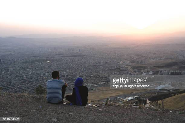 Locals enjoying the view from Mount Goyje, Sulaymaniyah, Kurdistan Region, Iraq