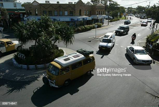 Locals feel traffic is becoming a problem in Byron bay 2 November 2005 SMH Picture by PAUL HARRIS