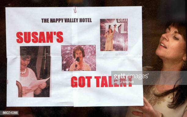 Locals in the town of Blackburn West Lothian show there support for Britain�s Got Talent contestant Susan Boyle on April 18 2009 in Blackburn...