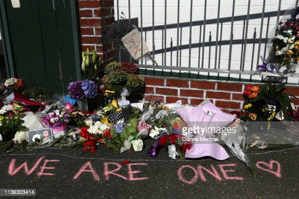 Locals leave flowers and condolences at the Southland Muslim Association Community Centre on March 17 2019 in Invercargill 50 people are confirmed...