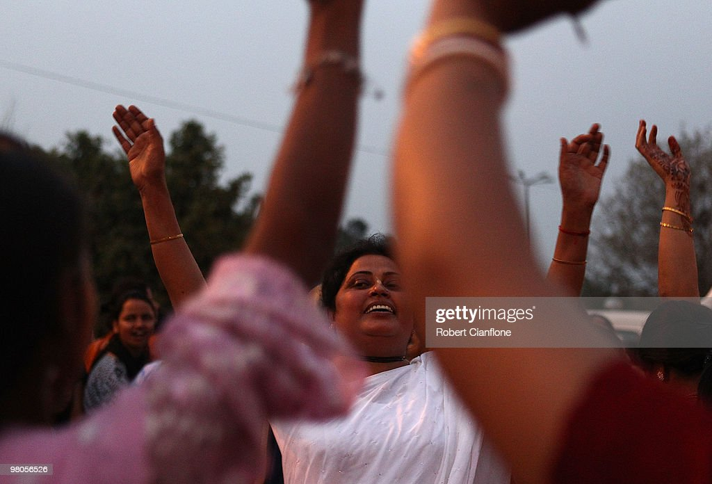 Locals of Chandigarh celebrate Ram Navmi which marks the birth of the Supreme Lord Rama on March 25 2010 in Chandigarh India