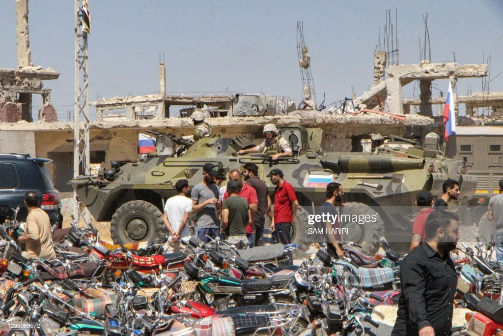 TOPSHOT-SYRIA-CONFLICT-DARAA : News Photo