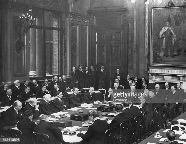 12/1/1925 Locarno Switzerland Signing of the Locarno Treaty by the world powers including delegates from the countries of Germany France Belgium...