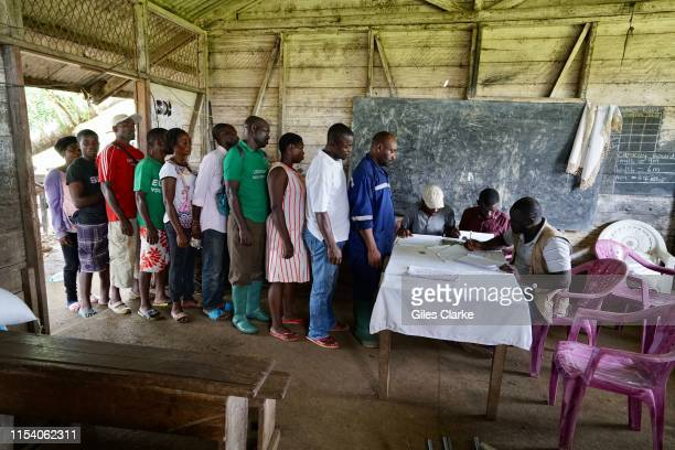 Located in a former school building a local NGO registers locally displaced residents for humanitarian aid that arrive from new camps set up in the...