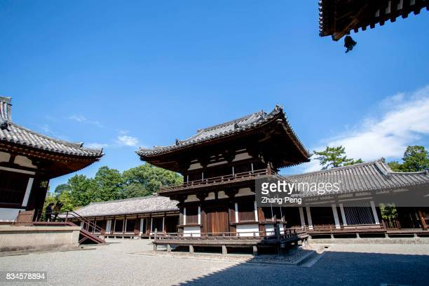 Located in suburb of Nara city Toshodaiji Temple designed and built by Chinese monk Jian Zhen in Tang Dynasty has a China Tang architectural style...