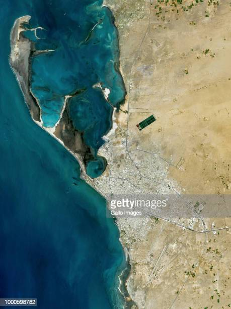 Located on the Red Sea the city of Al Hudaydah in Yemen has a deep history in trade and maritime activity on May 06 2018 in Al Hudaydah Yemen