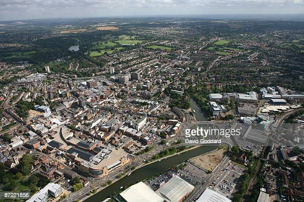 Located on the River Medway three miles south of the Kent North Downs is town centre of Maidstone on 1st September 2008