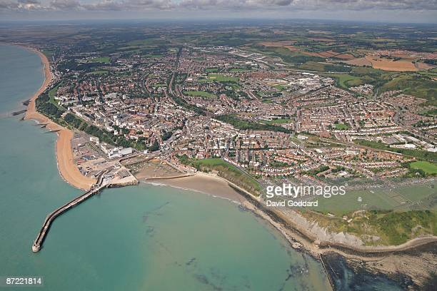 Located on the South Coast 4 miles west of Dover is the harbour town of Folkstone Kent on 30th August 2006