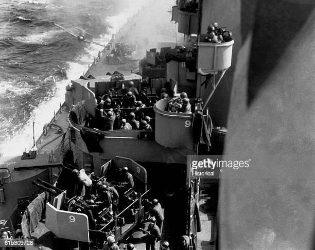   Location: USS Missouri, in the Pacific Ocean off Okinawa, Ryuku Islands, Japan.