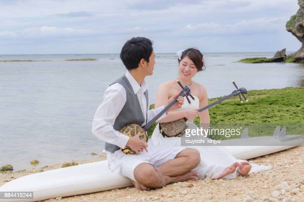 location wedding photo - shamisen stock photos and pictures