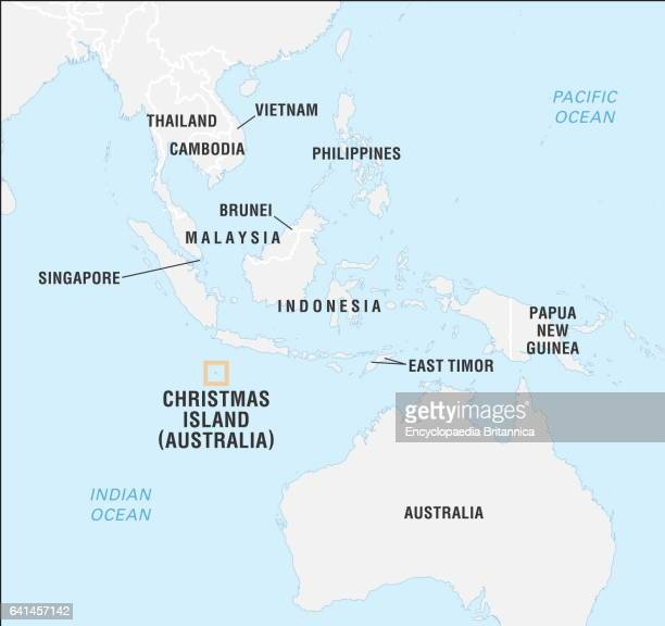 Locator map of Christmas Island Indian Ocean