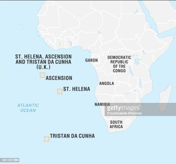 Locator map of Saint Helena Ascension and Tristan da Cunha Islands