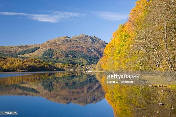 Loch Achray, autumn morning, Trossachs, Scotland