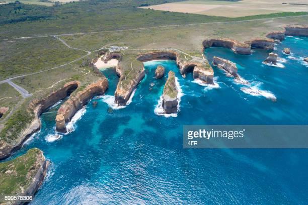 Loch Ard Gorge, Razorback and Island Arch, Great Ocean Road, Twelve Apostels, Australia