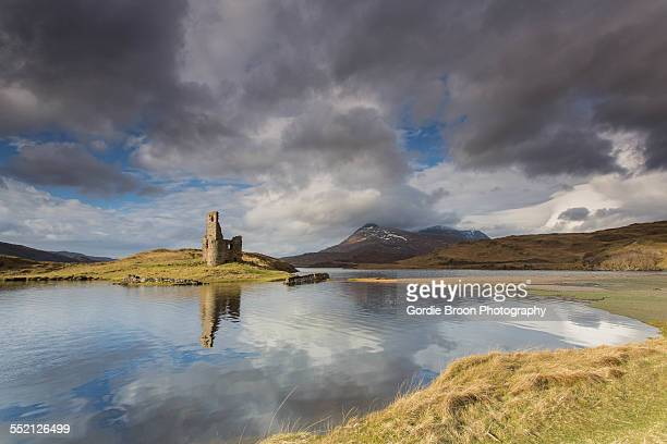 loch assynt - inverness stock photos and pictures