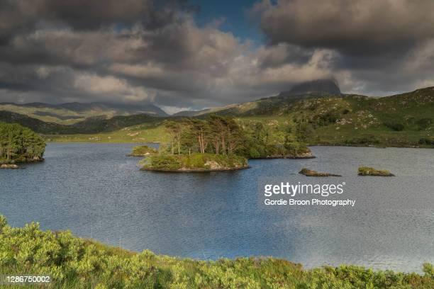 loch druim suardalain. - lake stock pictures, royalty-free photos & images