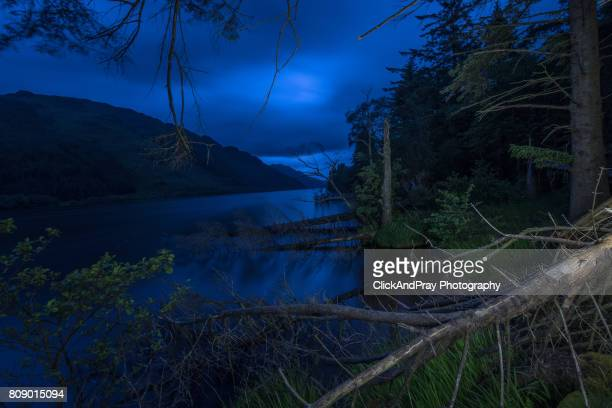 Loch Eck At Inverchapel At Night