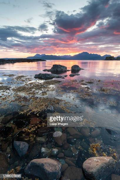 Loch Eishort and the Cuillin hills on the Isle of Skye.