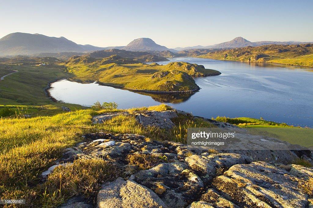 Loch Inchard in early morning light : Stock Photo