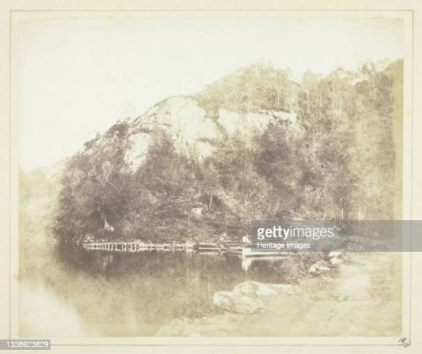 Loch Katrine, 1844. A work made of salted paper print, plate x from the album 'sun pictures in scotland' . Artist William Henry Fox Talbot.