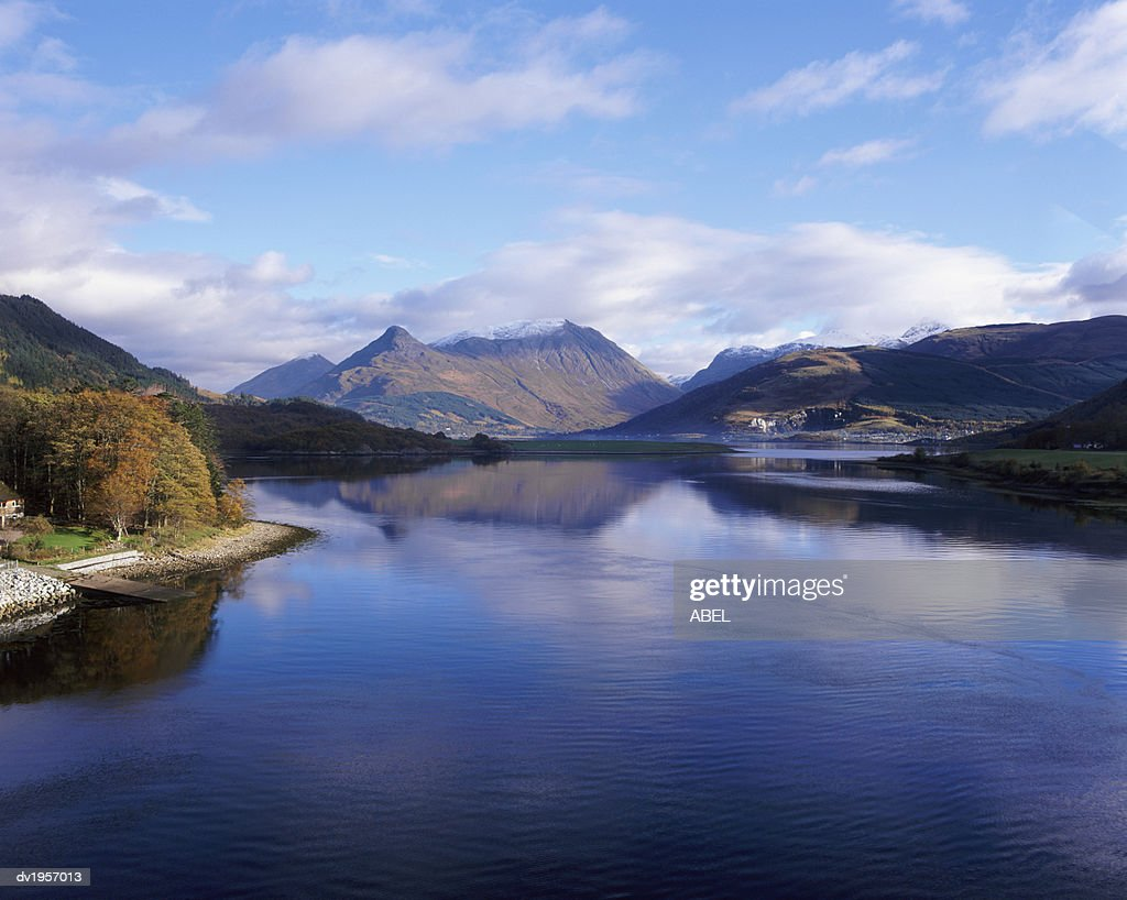 Loch Leven and the Pap of Glencoe, Highlands, Scotland : Stock Photo