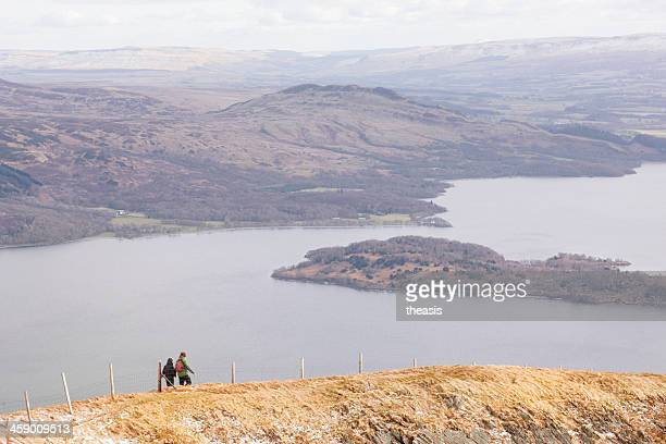loch lomond from beinn dubh - theasis stock pictures, royalty-free photos & images