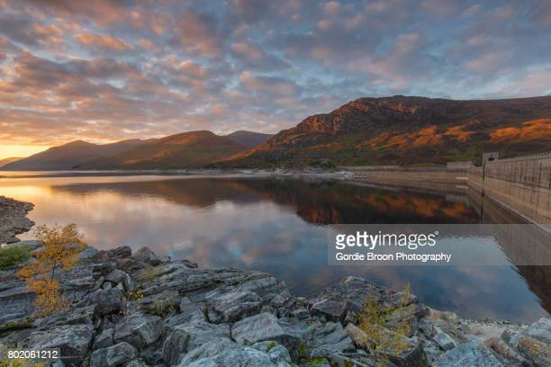loch mullardoch. - inverness stock photos and pictures