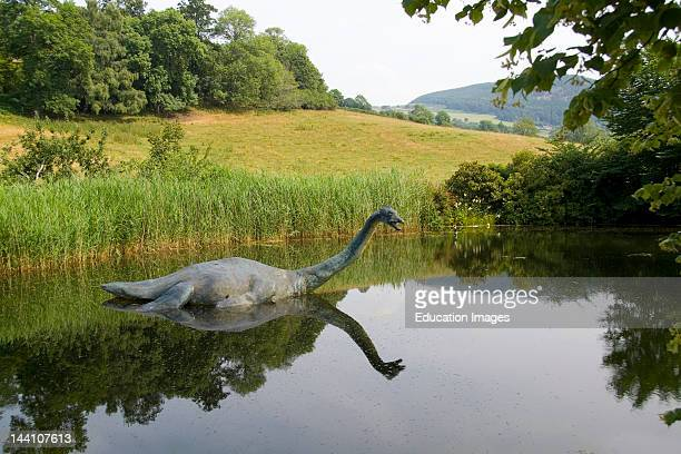 Loch Ness Area Near Drumnadrochit Home Of The Loch Ness Monster Nessie In The Scotish Highland Monument Of Nessie